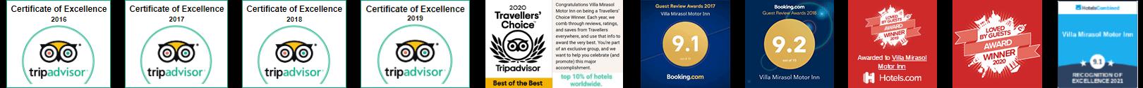 Villa Mirasol Motor Inn Awards - Motel in Bundaberg