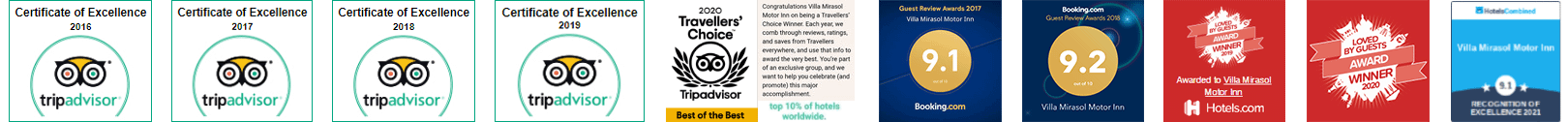 Villa Mirasol Motor Inn Awards - Motel in Bundaberg
